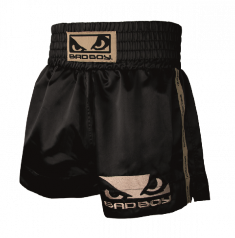 Short de Muay Thai Bad Boy - Noir/Or