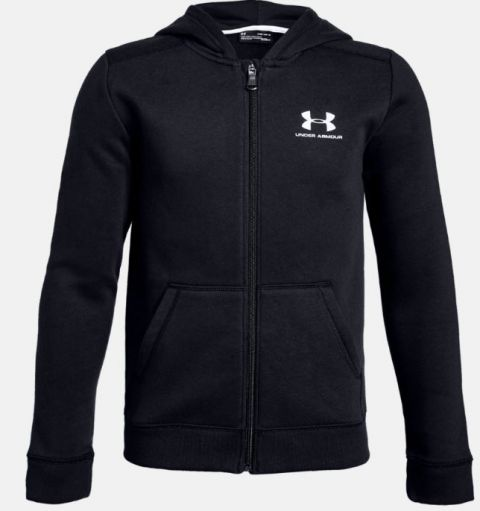 Sweat à capuche enfant Under Armour Rival Fleece Full Zip - Noir