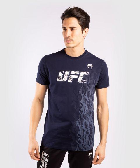 T-shirt Manches Courtes en Coton Homme UFC Venum Authentic Fight Week - Bleu Marine