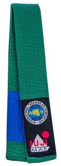 Ceinture de Taekwondo ITF Bicolore Fuji Mae