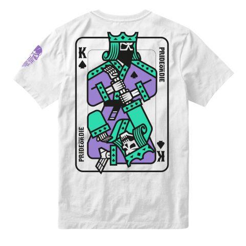 T-Shirt Pride or Die King of Spades - Blanc