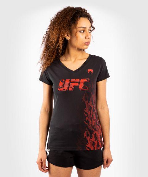 T-shirt Manches Courtes Femme UFC Venum Authentic Fight Week - Noir