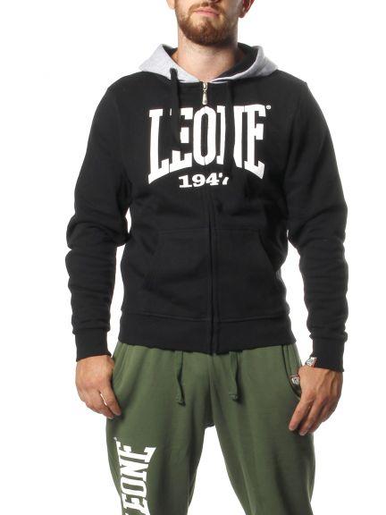 Sweatshirt à zip Leone - Noir