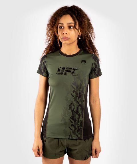 T-shirt Technique Manches Courtes Femme UFC Venum Authentic Fight Week - Kaki