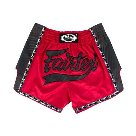 Short de boxe thaï Fairtex - Rouge/Noir