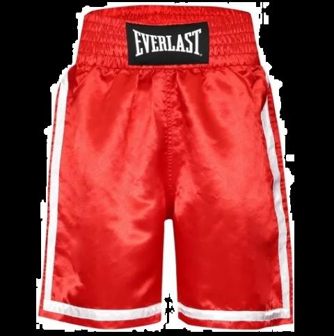 Short de Boxe Everlast Competition - Rouge/Blanc