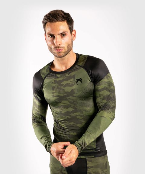 T-shirts de compression Venum Trooper - Manches longues - Forest Camo/Noir