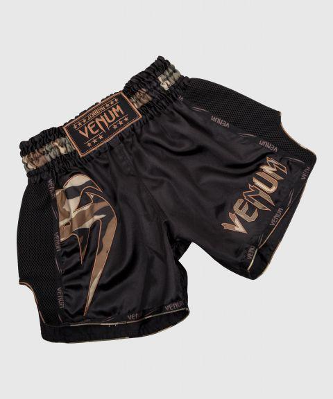 Short de Muay Thai Venum Giant - Noir/Forest Camo