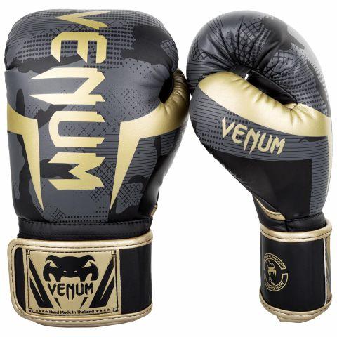 Gants de boxe Venum Elite - Dark Camo/Or