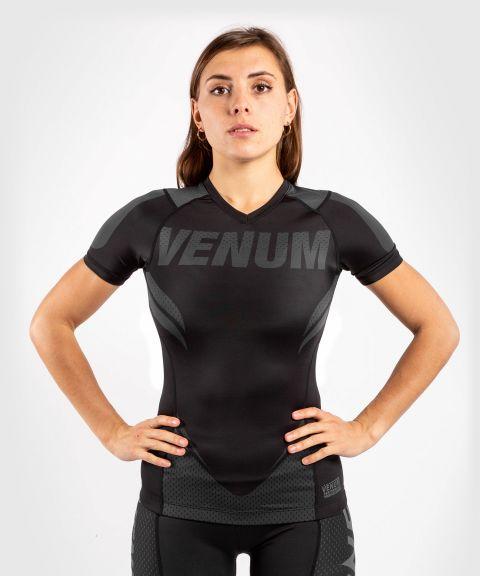 T-shirt de compression Venum ONE FC Impact - manches courtes - pour femme - Noir/Noir