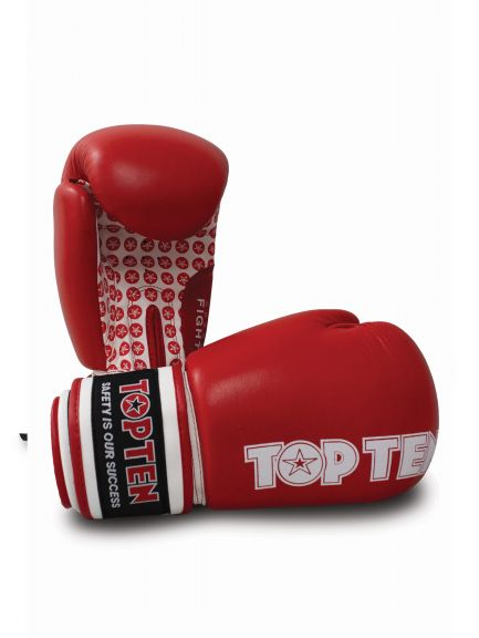 Gants de boxe américaine Top Ten Fight Stars - Rouge