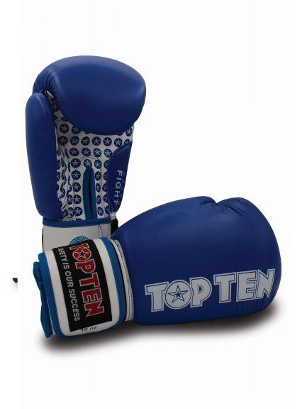 Gants de boxe américaine Top Ten Fight Stars - Bleu