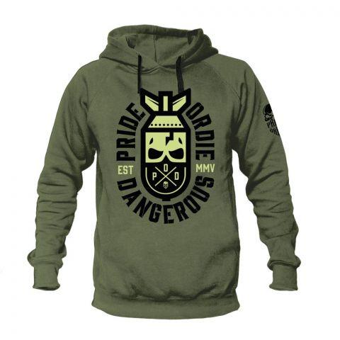 Sweatshirt à Capuche Pride Or Die Dangerous - Olive