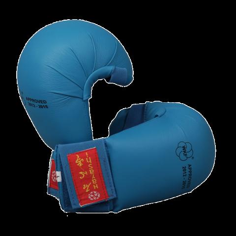 Gants de Karaté Hayashi TSUKI sans pouce - Bleu - Approuvés WKF