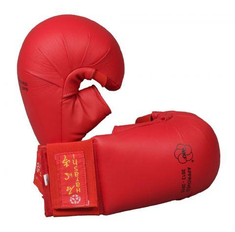Gants de Karaté Hayashi TSUKI avec pouce - Rouge - Approuvés WKF
