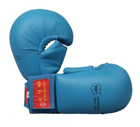 Gants de Karaté Hayashi TSUKI avec pouce - Bleu - Approuvés WKF