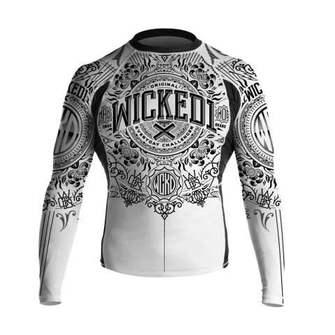 Rashguard Wicked One Brain - Blanc