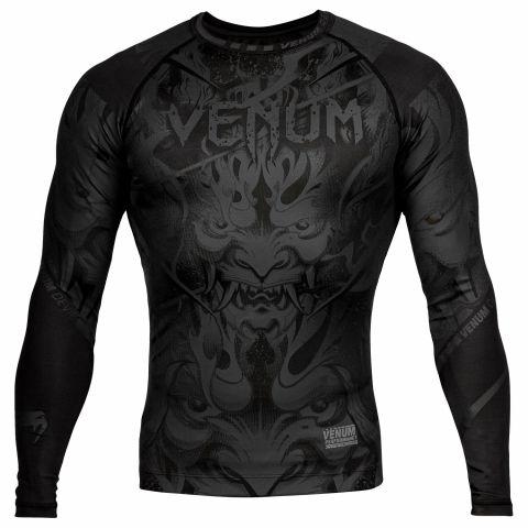 Rashguard Venum Devil - Manches longues - Noir/Noir