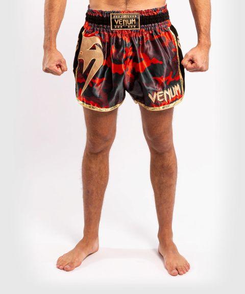 Short de Muay Thai Venum Giant Camo - Rouge/Doré