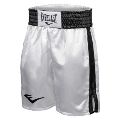 Short de boxe Everlast Competition - Blanc/Noir