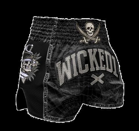 Short de Muay Thai Wicked One Pirate - Noir