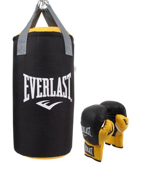 Kit de boxe Everlast Junior - Noir/Jaune