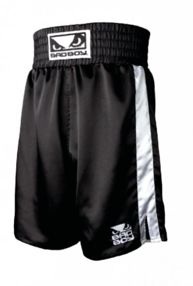 Short de Boxe Bad Boy - Noir/Blanc