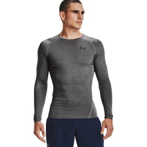 T-shirt Under Armour HeatGear® Armour - Manches Longues - Gris