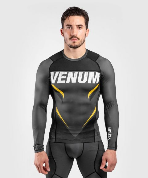 T-shirt de compression Venum ONE FC Impact - manches longues - Gris/Jaune