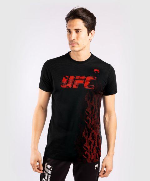 T-shirt Manches Courtes en Coton Homme UFC Venum Authentic Fight Week - Noir