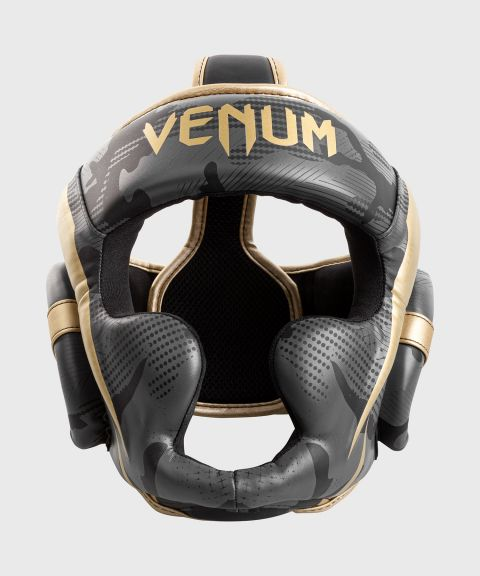 Casque de Boxe Venum Elite - Dark Camo/Or
