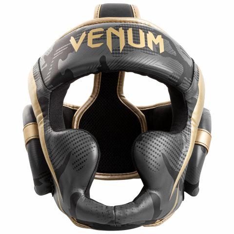 Casque de Boxe Venum Elite - Dark Camo/Or