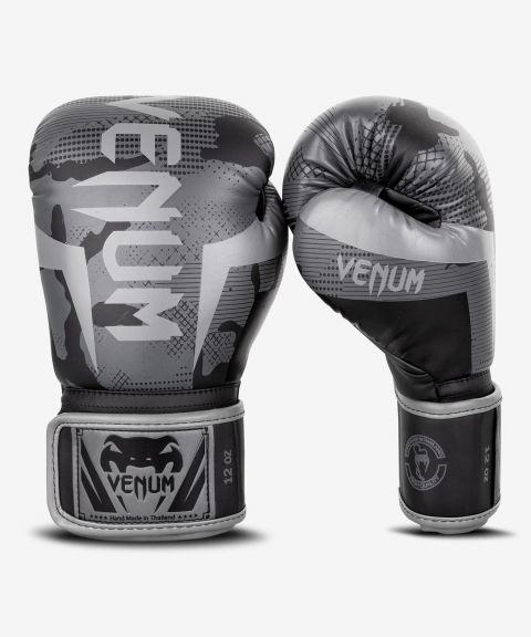 Gants de boxe Venum Elite - Noir/Dark camo