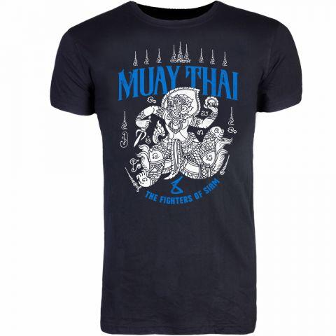 T-shirt 8 Weapons Hanuman Sak Yant - Noir