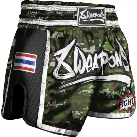 Short Muay Thai 8 Weapons Super Mesh Camo