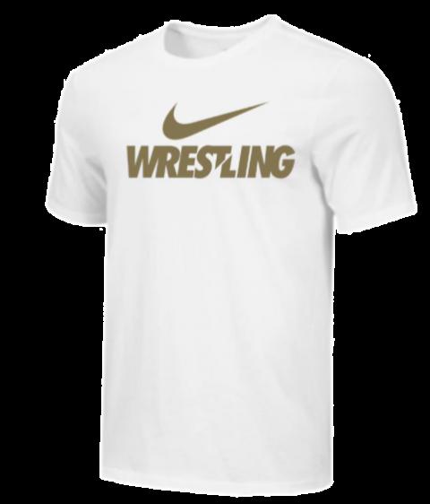 T-Shirt d'entraînement Nike - WRESTLING - Blanc