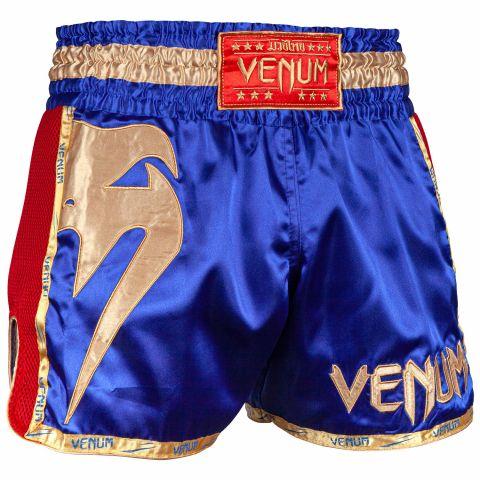 Short de Muay Thai Venum Giant - Bleu Marine/Doré