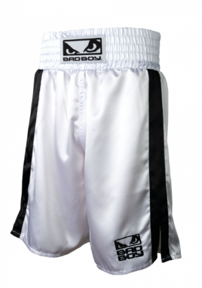 Short de Boxe Bad Boy - Blanc/Noir