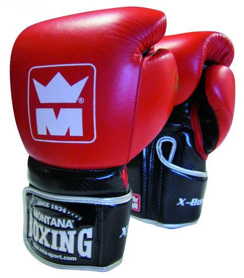 Gants de boxe Montana X-Boxing Rouge/Noir