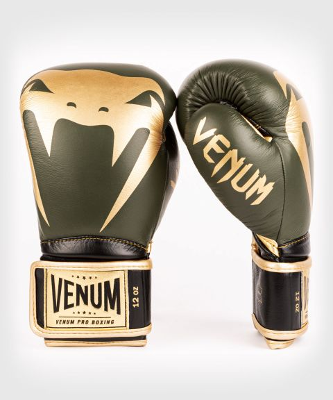 Gants de boxe pro Venum Giant 2.0 - Velcro - Kaki/Or