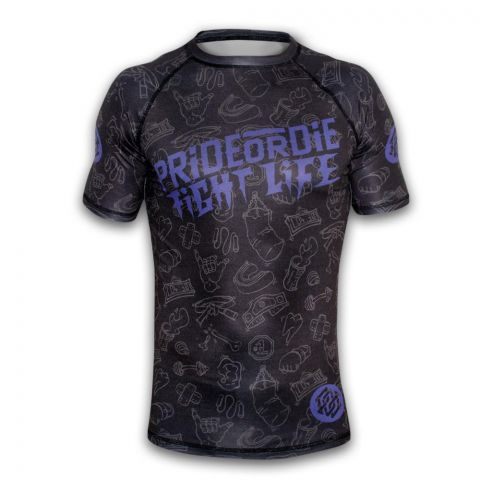 Rashguard Pride or Die Fight Life