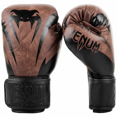 Gants de boxe Venum Impact - Noir/Marron