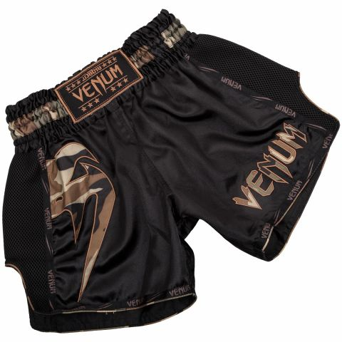 Short de Muay Thai Venum Giant - Noir/Forest Camo