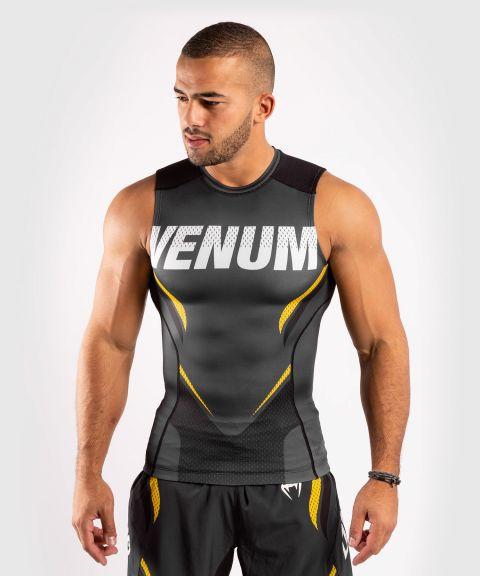 T-shirt de compression Venum ONE FC Impact - sans manches - Gris/Jaune