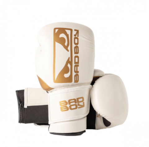 Gants de Boxe Zeus Bad Boy - Blanc/Or