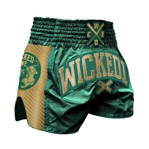 Short de Muay Thai Wicked One Shining - Vert