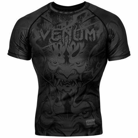 Rashguard Venum Devil - Manches courtes - Noir/Noir