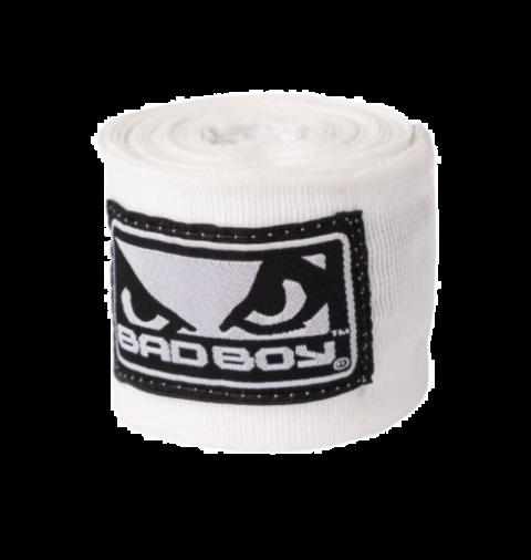 Bandages de Boxe Bad Boy - 3 Mètres - Blanc/Noir