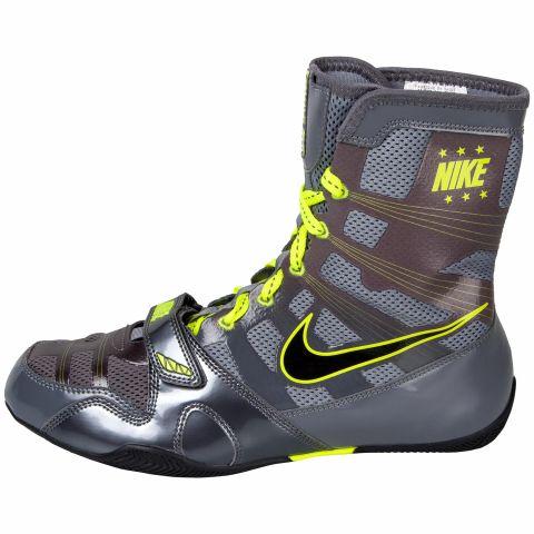 Chaussures de boxe Nike semi-montantes HyperKO - Gris/Jaune