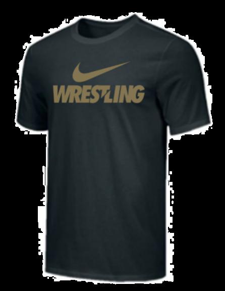 T-Shirt d'entraînement Nike - WRESTLING - Noir